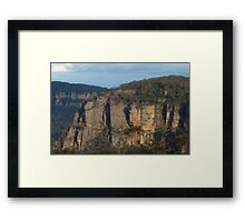 The First Step Is a Doozy - Blue Mountains World Heritage Area, Sydney Australia Framed Print