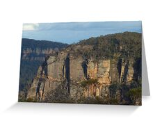 The First Step Is a Doozy - Blue Mountains World Heritage Area, Sydney Australia Greeting Card