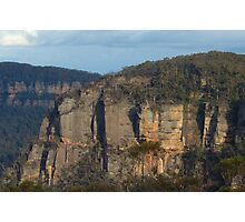 The First Step Is a Doozy - Blue Mountains World Heritage Area, Sydney Australia Photographic Print