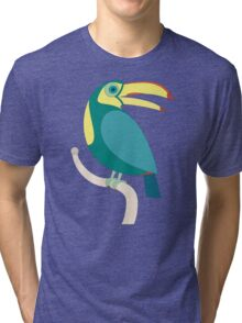 TOUCAN WITH RED NAILS Tri-blend T-Shirt