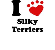 I Heart Silky Terriers by kwg2200