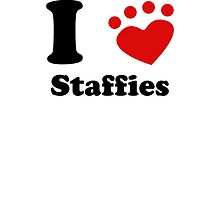 I Heart Staffies by kwg2200