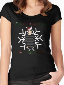 Merry Christmas You Peasant (danisnotonfire) Women's Fitted Scoop T-Shirt