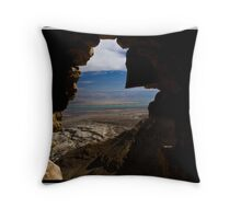 through a crack in the wall Throw Pillow