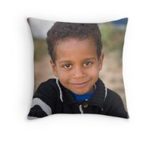 Cheeky Grin Throw Pillow