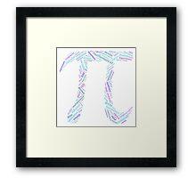 Pi: Maths Word Cloud 3 Framed Print