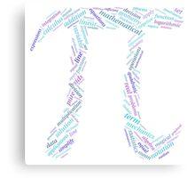 Pi: Maths Word Cloud 3 Canvas Print