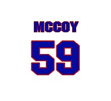 National football player Matt McCoy jersey 59 Photographic Print