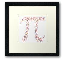 Pi: Maths Word Cloud 4 Framed Print