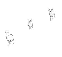 Three Deer in Snow by GreenMountainT