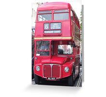 Routemaster Bus  Greeting Card