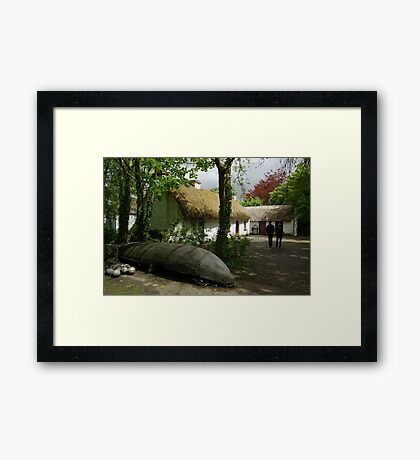 Stepping Back in Time - Bunratty Folk Park Framed Print