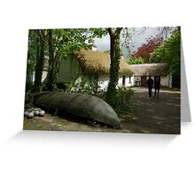 Stepping Back in Time - Bunratty Folk Park Greeting Card