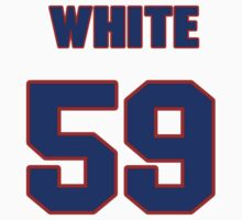 National football player Chris White jersey 59 by imsport