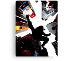 Jumping In Time Square Canvas Print