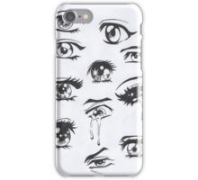 anime eyes iPhone Case/Skin