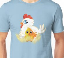 Cartoon Hen and Chicken Unisex T-Shirt