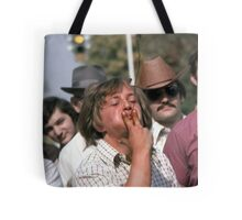 Tobacco Spitting Contest Tote Bag