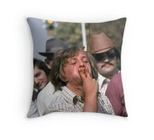 Tobacco Spitting Contest Throw Pillow