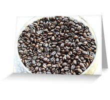 Brazil. A bowl of fresh coffee beans Greeting Card