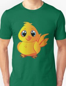 Cute cartoon yellow chicken with blue eyes. T-Shirt