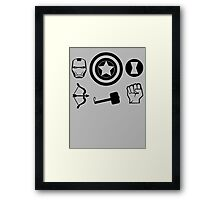 The Avengers all Symbols Nerdy Must Have Framed Print