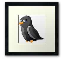 Cartoon Raven Framed Print