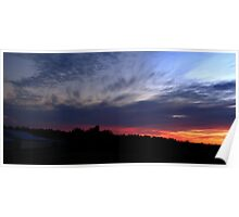 0100 - HDR Panorama - Sunset Poster