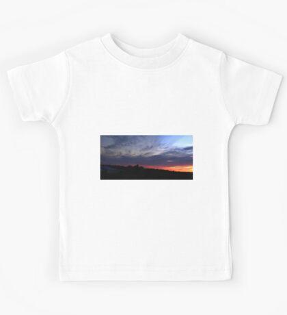 0100 - HDR Panorama - Sunset Kids Tee