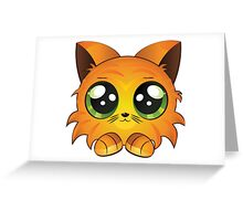 Red kitten Greeting Card
