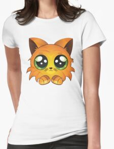 Red kitten Womens Fitted T-Shirt