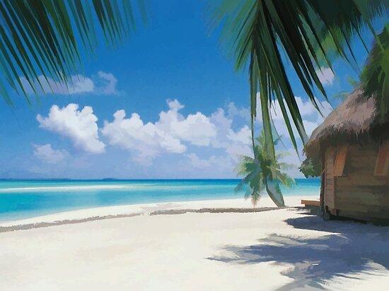 Jamaican Beach by hilarydougill