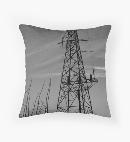 Sihouetted Pylon Throw Pillow