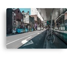 Arrows and Buildings Canvas Print