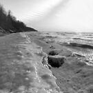 Frozen Waves B&W by velveteagle