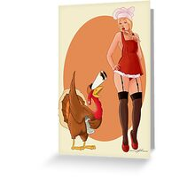 Funny Christmas PinUp  Greeting Card