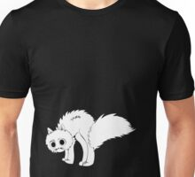 Cute cartoon white kitten Unisex T-Shirt