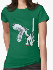 Leashed Womens Fitted T-Shirt