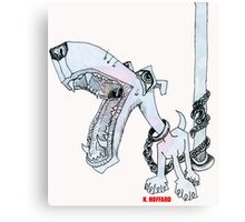 Leashed Canvas Print