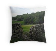 Drystone wall Throw Pillow