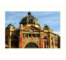 Flinders Street Station, Melbourne : photograph Art Print