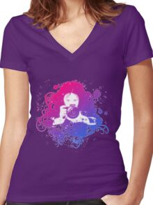 Photographer 2 Women's Fitted V-Neck T-Shirt