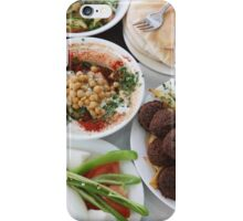Hummus and falafel  iPhone Case/Skin