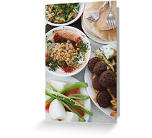 Hummus and falafel  Greeting Card