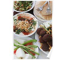 Hummus and falafel  Poster
