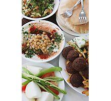 Hummus and falafel  Photographic Print