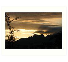 Organ Mountains Sunrise Art Print