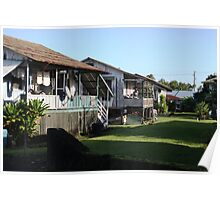 Old Time Hilo Neighborhood Poster