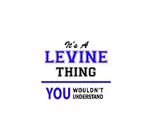 It's a LEVINE thing, you wouldn't understand !! by thenamer