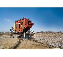 Old wagon on the Oregon trail near fort Kearney Photographic Print